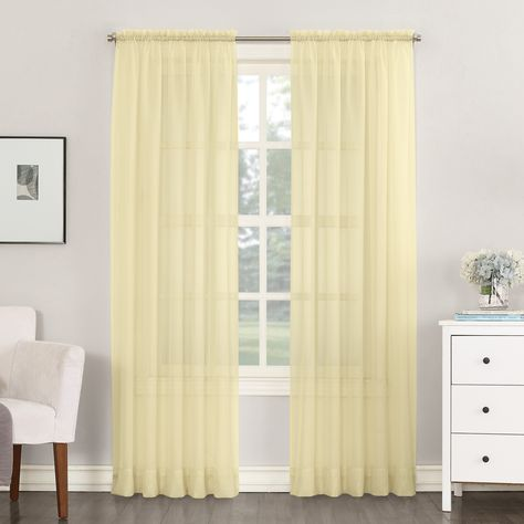 Home In 2020 Panel Curtains Rod Pocket Curtains Yellow Curtains