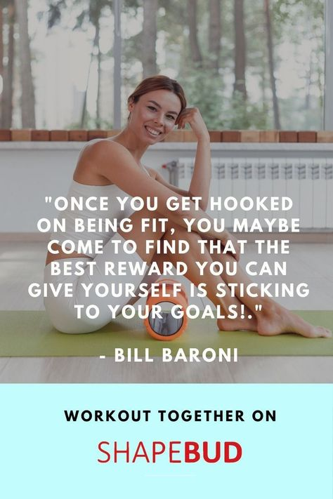 Check out this health and fitness motivation quote focusing on getting fit and being fit. Find more inspirational exercise quotes for health and wellness on our boards. ShapeBud is a fitness app where you can find others based on fitness interests & goals to exercise together on the App. Find ShapeBud on the App Store and Google Play to download today for free.