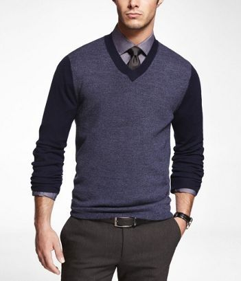 v neck sweater and tie | CasualStyle / semismart | Pinterest ...