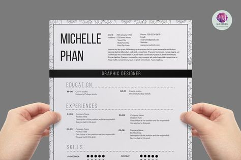 Modern 1 page resume Unique resume, Cv template and Resume - architecture resume format