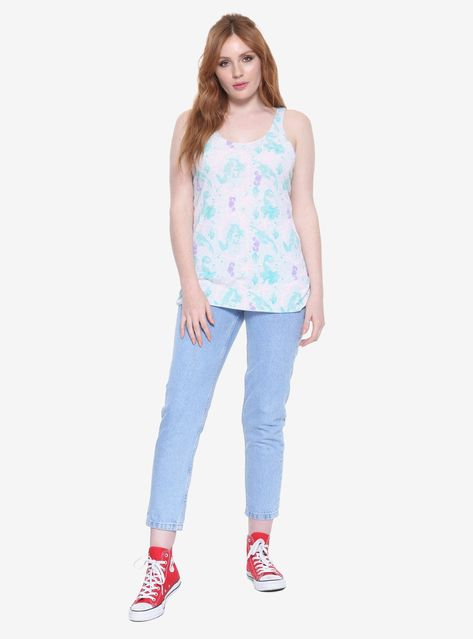 d0e1cce1dc Disney The Little Mermaid Ariel Intricate Allover Print Girls Tank Top