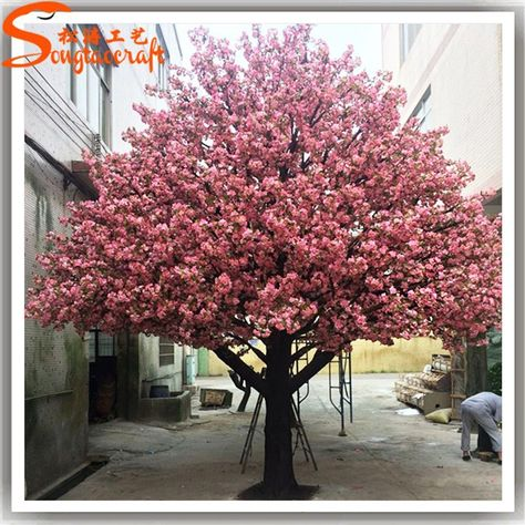 Large Outdoor Lighted Cherry Blossom Trees Large Artificial Flower Cherry Blossom Large Artificial Flowers Artificial Cherry Blossom Tree Blossom Tree Wedding