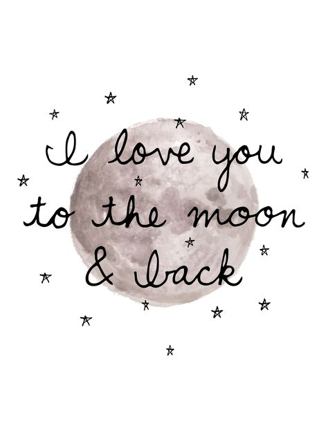 I love you to the moon and back! Click to shop art prints!