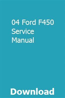 04 Ford F450 Service Manual Manual Car Opel Komatsu