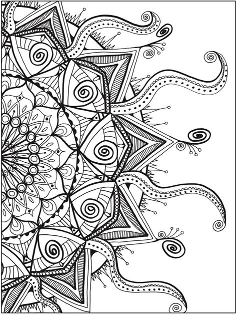Zendala Coloring Book By Lynne Medsker Dover Publications Page