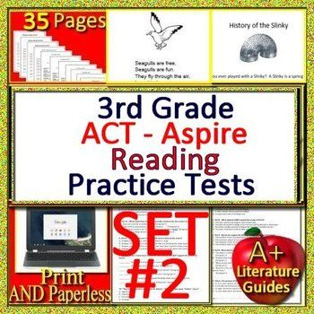 photo about 3rd Grade Reading Practice Test Printable titled 3rd Quality ACT Aspire Examine Prep Reading through Train Checks #2
