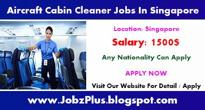 Aircraft Cabin Cleaner Jobs Vacancies In Singapore Job Cleaners Singapore