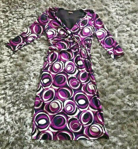 Phase Eight Dress Size 12 Purple Jersey Fit And Flare Fixed Wrap Swirls Dresses Ebay Link In 2020 Phase Eight Dresses Occasion Dresses Uk Fit And Flare Dress