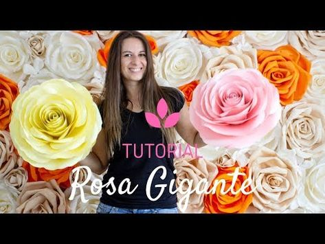 Youtube Fiori Di Carta.Rosa Di Carta Gigante Tutorial Fiori Di Carta Fai Da Te Youtube