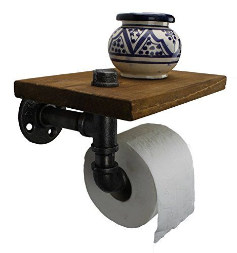 Irwost Support Papier Toilette Deco Design Industriel Retro Steampunk Avec Etagere En Tuyau Design Industriel Etagere En Tuyau Derouleur Papier Toilette