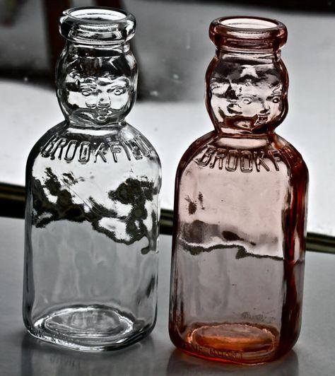 Vintage Set of Brookfield Baby Top Milk Bottles