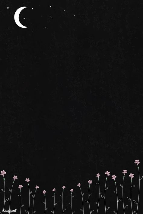 Blooming flowers and Space Phone Wallpaper, Black Wallpaper Iphone, Homescreen Wallpaper, Dark Wallpaper, Galaxy Wallpaper, Cartoon Wallpaper, Wallpaper Wallpapers, Black Aesthetic Wallpaper, Aesthetic Iphone Wallpaper