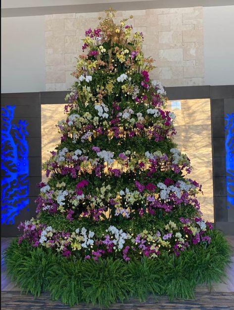 Orchid Christmas Tree.Pinterest