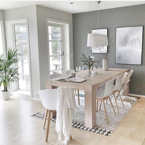 Schöne freundliche Esszimmer Einrichtungsidee in Grau, Natur und - esszimmer modern mit bank