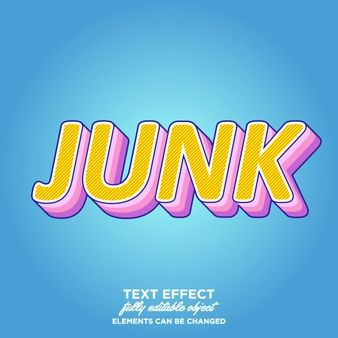 Fun, colorful layered text style | Font effect | Color