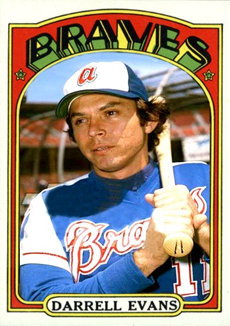 Alternate 1972 Custom Card Of Darrell Evans Of The Atlanta Braves