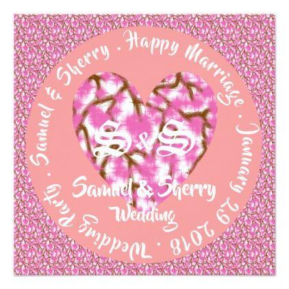 Sakura Blossom English Version Sq Invitation 2 Zazzle Com