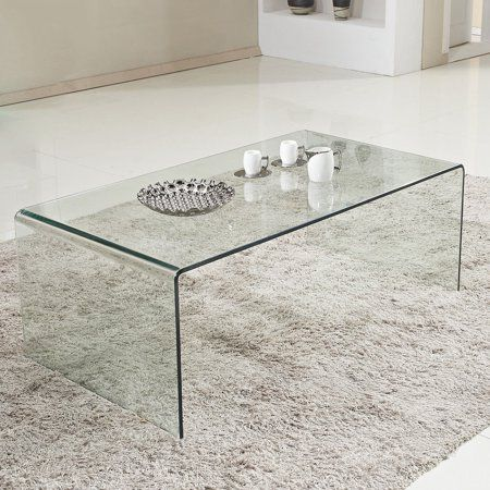 Costway Tempered Glass Coffee Table Accent Cocktail Side Table