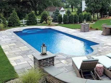 7 Top Small Inground Pools Ideas Backyard Pool Landscaping Inground Pool Landscaping Pool Landscaping