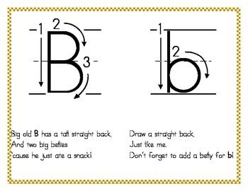 Letter Formation (Handwriting) Rhymes | Letter formation ...