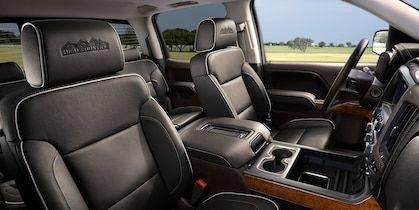 2018 Silverado 1500 Pickup Truck Interior Photo Leather Seats