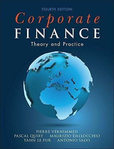 Corporate Finance Theory And Practice 4th Edition Pdf Version Finance Accounting And Finance Theories
