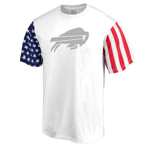 1e99ec24 Men's NFL Pro Line by Fanatics Branded White Buffalo Bills Stars & Stripes T -Shirt