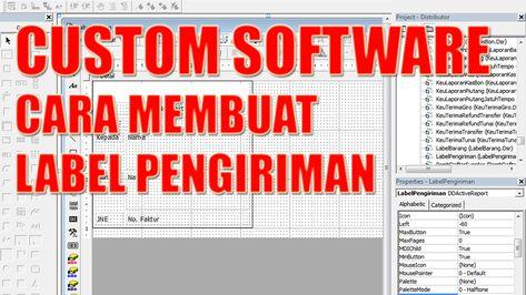 Custom Software Cara Membuat Label Pengiriman Labels Custom Software