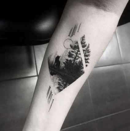 55 Ideas Nature Tattoo Designs Geometric Shapes For 2019 Wolf Tattoo Sleeve Wolf Tattoos Gorgeous Tattoos