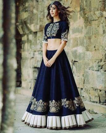 Heavy Blue Designer Lehenga Choli Party Bridal Wear Wedding Lengha Ghagra Dress