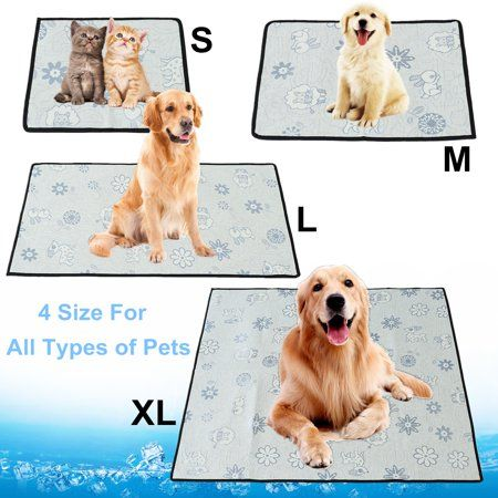 Grtxinshu 4 Size Breathable Pet Cooling Mat Non Toxic Dog Chill