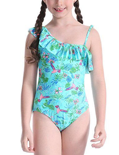 City Threads Swimsuit for Girls One Piece UPF50 Sun Protection Swimming Suit Made in USA