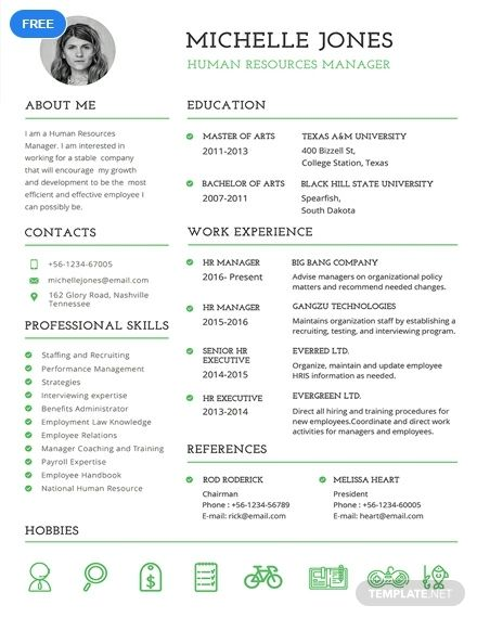 Free Professional Hr Resume Free Printable Resume Templates