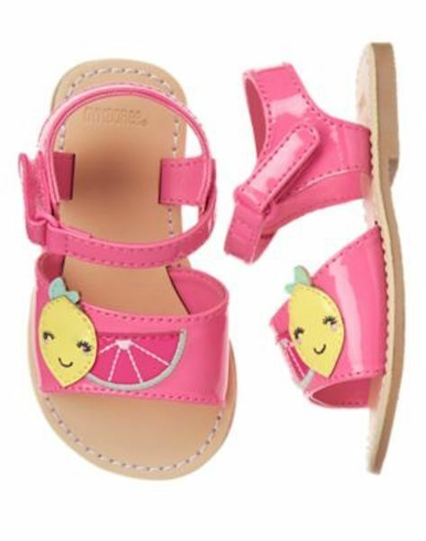 Gymboree Metallic Pink Watermelon Sandals Shoes Toddler Girl Size 9 NEW