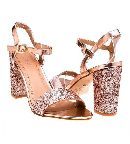 Sklep Z Butami Styloweobcasy Pl Wieczorowe Sandaly Na Slupku Srebrne Shoes Sandals Fashion