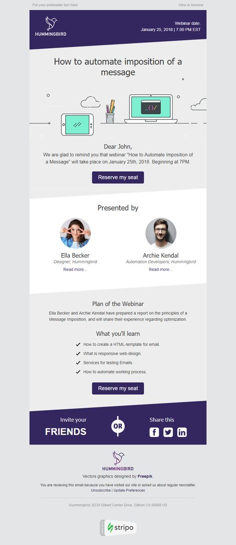 Event Reminder Email Template