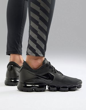 sports shoes 96713 724c9 Nike Running Vapormax mesh trainers in black ah9046-002 ...