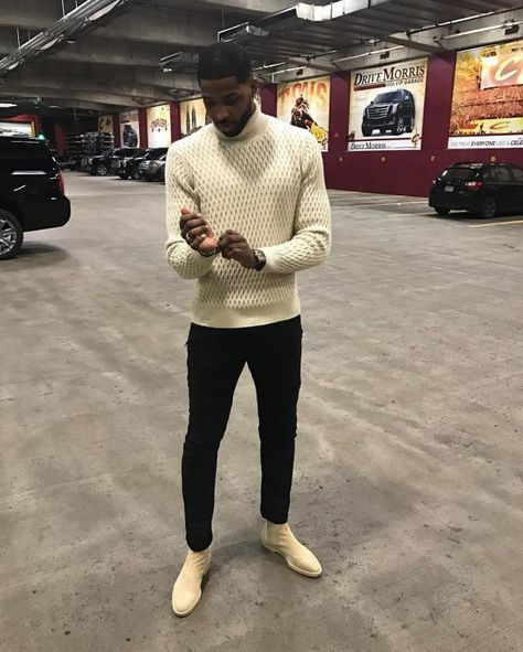 Tristan Thompson Wears NN07 Sweater, Balmain Jeans and Common