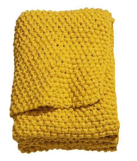 H M Home Mustard Yellow Throw Yellow Throw Blanket Yellow Throw Yellow Blankets