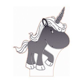Cartoon Unicorn 3d Illusion Lamp Plan Vector File For Laser And Cnc 3bee Studio 3d Illusions 3d Illusion Lamp Cartoon Unicorn
