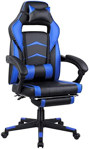 New Mvpower Gaming Chair Reclining Racing Chair Ergonomic Office Chair Wear Resistant Adjustable Swivel High Back Computer Chair Headrest Lumbar Support Foot In 2020 Ergonomic Office Chair Computer Chair Ergonomic Office