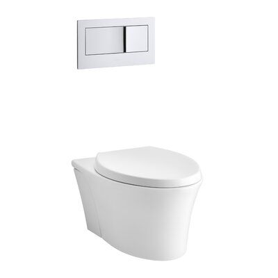 Kohler Veil One Piece Elongated Dual Flush Wall Hung Toilet With
