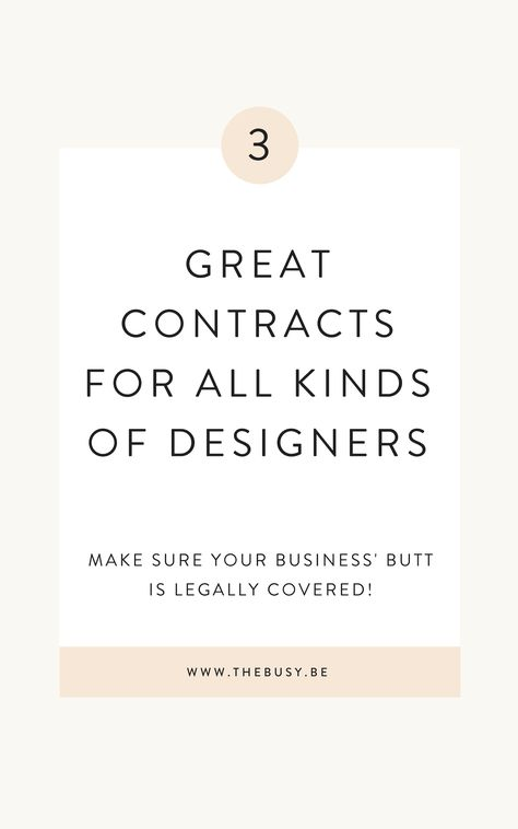 My 3 Favorite Contracts For Designers — The Busy Bee