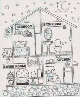 Atividades Ingles Sobre Partes Da Casa Com Imagens Atividades