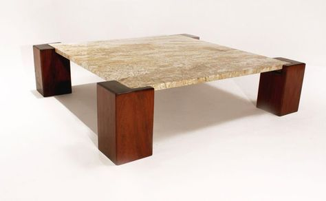 Solid Ipe And Granite Coffee Table From Brazil Granite Coffee