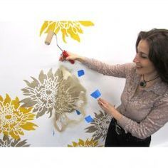 6-Chrysanthemum-stencil-how-to-stencil-stenciling