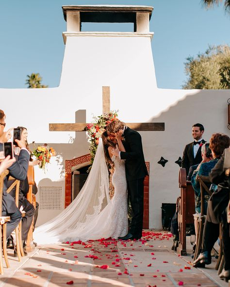 Spanish style wedding ceremony in Palm Springs