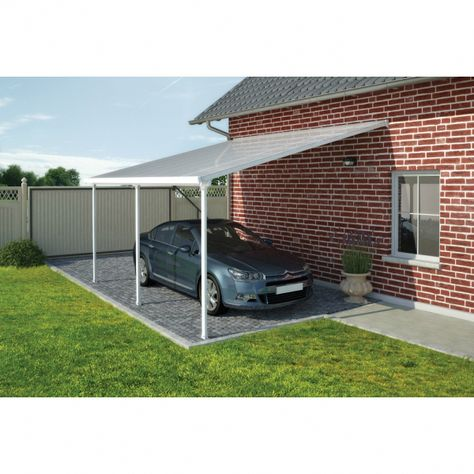 Protect your belongings while complementing your home with the modern design of the Palram Feria Carport.