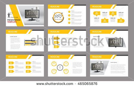 Set of presentation templateUse in annual report, corporate - engineering report template