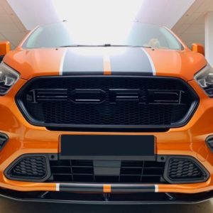Ford Transit Custom Front Grille Gloss Black Styling New Shape